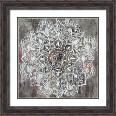 Amanti Art Framed Art Print Mandala in Neutral II by Danhui Nai 23 x 23 Frame Rustic Pine (DSW3909738)