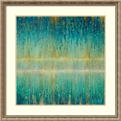 Amanti Art Framed Art Print Rain Abstract I by Danhui Nai 32W x 32H, Frame Champagne (DSW3909741)