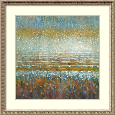Amanti Art Framed Art Print Rains over the Lake by Danhui Nai 32 x 32H, Frame Gold (DSW3909743)