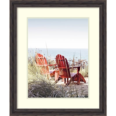 Amanti Art Framed Art Print Afternoon by the Lake II by Brookview Studio 25 x 30H, Frame Rustic Pine (DSW3910645)