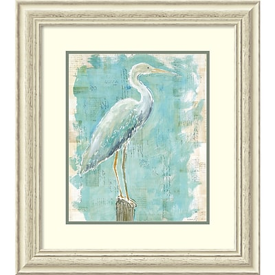 Amanti Art Framed Art Print Coastal Egret I v2 by Sue Schlabach 25 x 28 Frame White (DSW3910654)