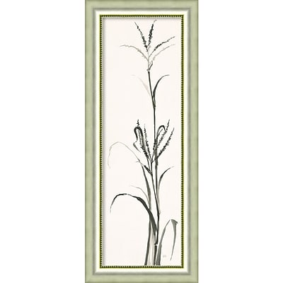 Amanti Art Framed Art Print Gray Grasses IV by Chris Paschke 18W x 45H Silver Frame (DSW3926485)