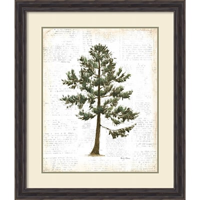 Amanti Art Framed Art Print Into the Woods Trees I by Emily Adams 27W x 32H, Frame Rustic Pine (DSW3926487)