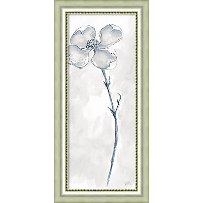 Amanti Art Framed Art Print Solitary Dogwood III Gray (Floral) by Chris Paschke 19W x 40H, Frame Silver (DSW3926489)