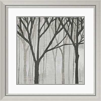 Amanti Art Framed Art Print Spring Trees Greystone III by Kathrine Lovell  30 x 30H, Frame Silver (DSW3926490)