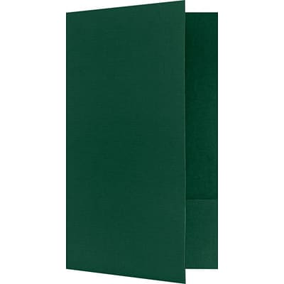LUX Legal Size Folders - Standard Two Pockets 25/Pack, Green Linen (LF118DDP10025)