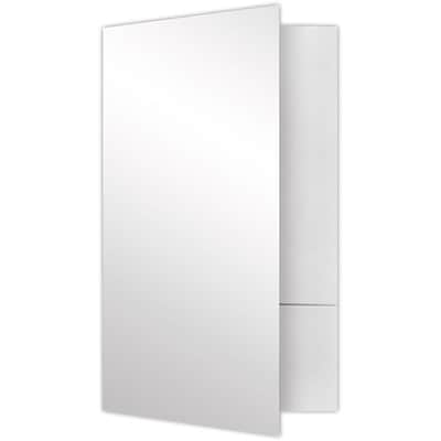 LUX Legal Size Folders - Standard Two Pockets 500/Pack, White Gloss (LF-118-SG12-500)