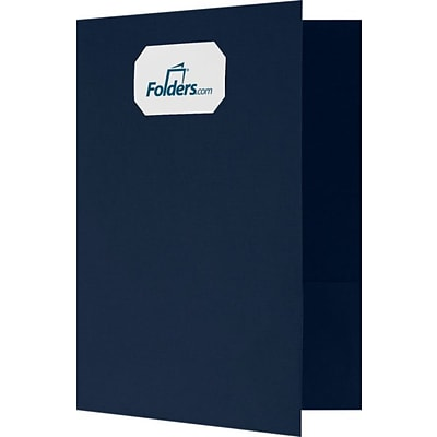 LUX 9 x 12 Presentation Folders - Standard Two Pockets 250/Pack, Dark Blue Linen (OR144DDBLU10025)