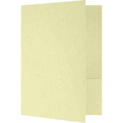 LUX 9 x 12 Presentation Folders - Standard Two Pocket 500/Pack, Thyme Fiber (SF-101-BT80-500)