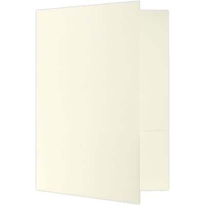 LUX 9 x 12 Presentation Folders - Standard Two Pocket 250/Pack, Ivory White Linen (SF101BN100250)