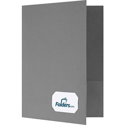 LUX 9 x 12 Presentation Folders - Standard Two Pockets 500/Pack, Sterling Gray Linen (OR145CSG100500)