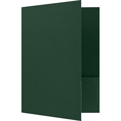 LUX 9 x 12 Presentation Folders, Standard Two Pocket, 50/Pack, Green Linen (SF101DDP10050)