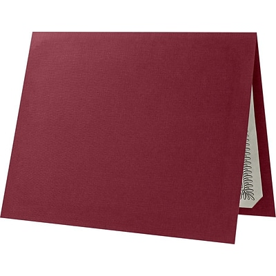 LUX Certificate Holders, 9 1/2 x 11, Burgundy Red Linen, 50/Pack (CHEL185DB10050)