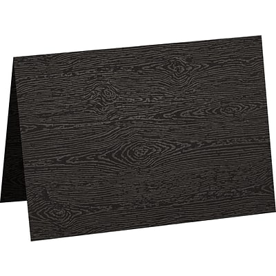 LUX A7 Folded Card (5 1/8 x 7) 500/Pack, Brasilia Black Woodgrain (5040-C-S04-500)