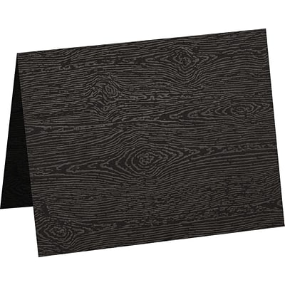 LUX A9 Folded Card (5 1/2 x 8 1/2) 50/Pack, Brasilia Black Woodgrain (5060-C-S04-50)