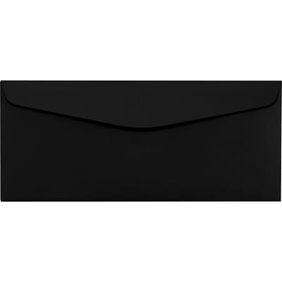 LUX #10 Regular Envelopes (4 1/8 x 9 1/2) 50/Pack, Midnight Black (LUX-4260-B-50)