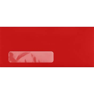 LUX #10 Window Envelopes (4 1/8 x 9 1/2) 1000/Pack, Ruby Red (LUX4860W181000)