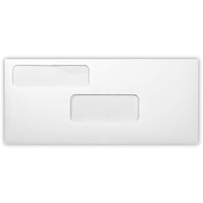 LUX #9 Double Window Envelopes (3 7/8 x 8 7/8) 500/Pack, 24lb. White (9DW-24W-500)