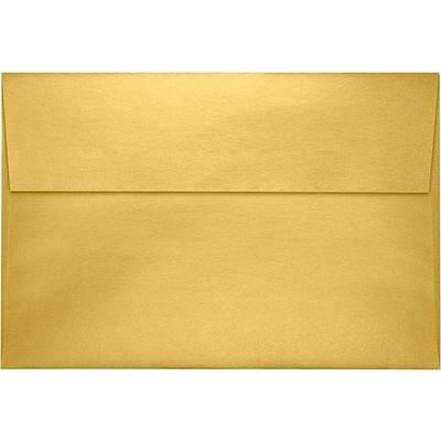 LUX A8 Invitation Envelopes (5 1/2 x 8 1/8) 250/Pack, Gold Metallic (4885-07-250)