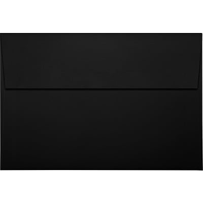 LUX A8 Invitation Envelopes (5 1/2 x 8 1/8) 1000/Pack, Black Linen (LUX4885BLI1000)