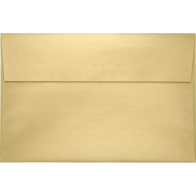 LUX A9 Invitation Envelopes (5 3/4 x 8 3/4) 50/Pack, Blonde Metallic (5395-M07-50)