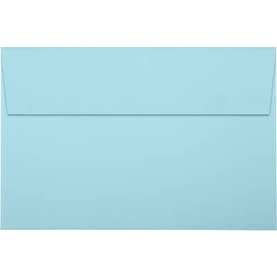 LUX A9 Invitation Envelopes (5 3/4 x 8 3/4) 50/Pack, Pastel Blue (SH4895-01-50)