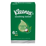 Kleenex Soothing Lotion Facial Tissue, 3-Ply, 110 Sheets/Box, 6 Boxes/Pack (51758)