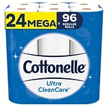 Cottonelle Ultra CleanCare 1-Ply Standard Toilet Paper, White, 340 Sheets/Roll, 24 Rolls/Pack (53757