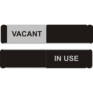 SECO Door Sign Vacant/In Use 10W x 2H Aluminum, Black and White (OF138-255X52)