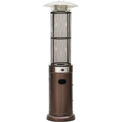 Cambridge 6 Ft. 34,000 BTU Cylinder Patio Heater with Glass Flame Display in Bronze (CCL031-BR)