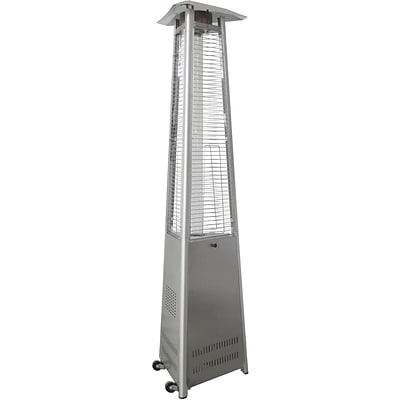 Cambridge 7 Ft. 42,000 BTU Triangle Propane Patio Heater in Stainless Steel (CT104-SS)