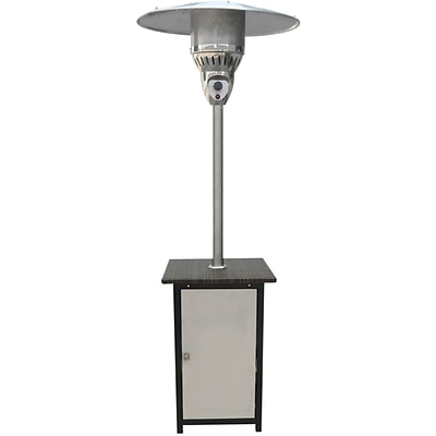 Hanover 7 Ft. 41,000 BTU Square Steel Patio Heater with Stainless Steel Finish (HAN022SSWCK)