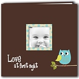 Pioneer Baby Owl Post Bound Album 12X12-Blue