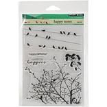 Penny Black Clear Stamps 5X7-Happy Notes