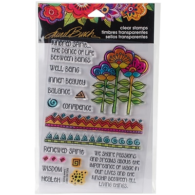 Stampendous Laurel Burch Clear Stamps 7.25X4.625-Kindred Borders