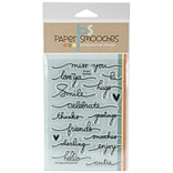 Paper Smooches Clear Stamps 4X6 -Scripty Sayings