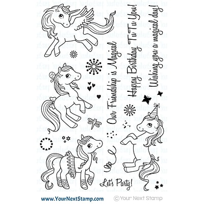 Your Next Stamp Clear Stamps 4X6-Magical Ponies