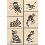 Inkadinkado Mounted Rubber Stamp Set 4.75X3.5-Wildlife Friends