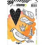 Carabelle Studio Cling Stamp A6-The Heart & The Bird