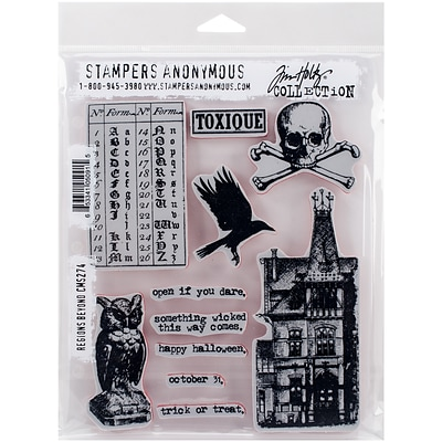 Stampers Anonymous Regions Beyond Tim Holtz Cling Stamps, 7X8.5 (CMS-LG-274)