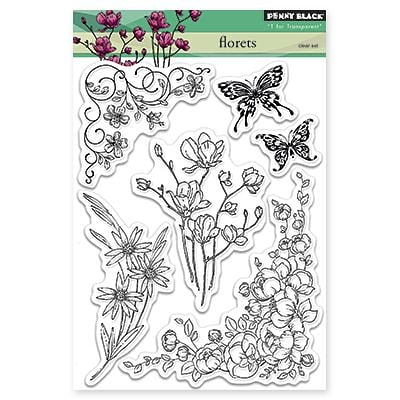 Penny Black Florets Penny Black Clear Stamps, 5X7 (PB30299)