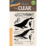 Hero Arts Color Layering Blue Whale Clear Stamps, 4X6 (HA-CM162)