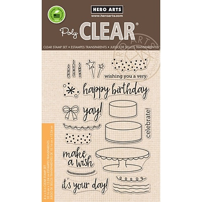 Hero Arts Birthday Cake Layering Clear Stamps, 4X6 (HA-CL950)