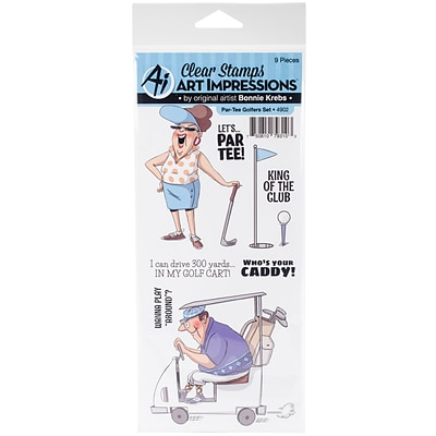 Art Impressions Par-Tee Golfers Art Impressions Work & Play Clear Stamp Set (4902)