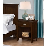 Simpli Home Acadian Bedside Table in Tobacco Brown (3AXCACA-02)