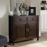 Simpli Home Connaught Entryway Storage Cabinet in Dark Chestnut Brown (3AXCCON-04)