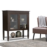 Simpli Home Carlton Medium Storage Cabinet in Tobacco Brown (3AXCCRL-05)