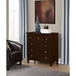 Simpli Home Carlton Bedroom Chest of Drawers in Tobacco Brown (3AXCCRL-13)