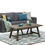 Simpli Home Dylan Coffee Table in Driftwood (3AXCDLN-01)