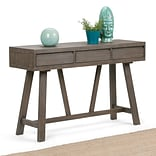 Simpli Home Dylan Hallway Console Table in Driftwood (3AXCDLN-04)